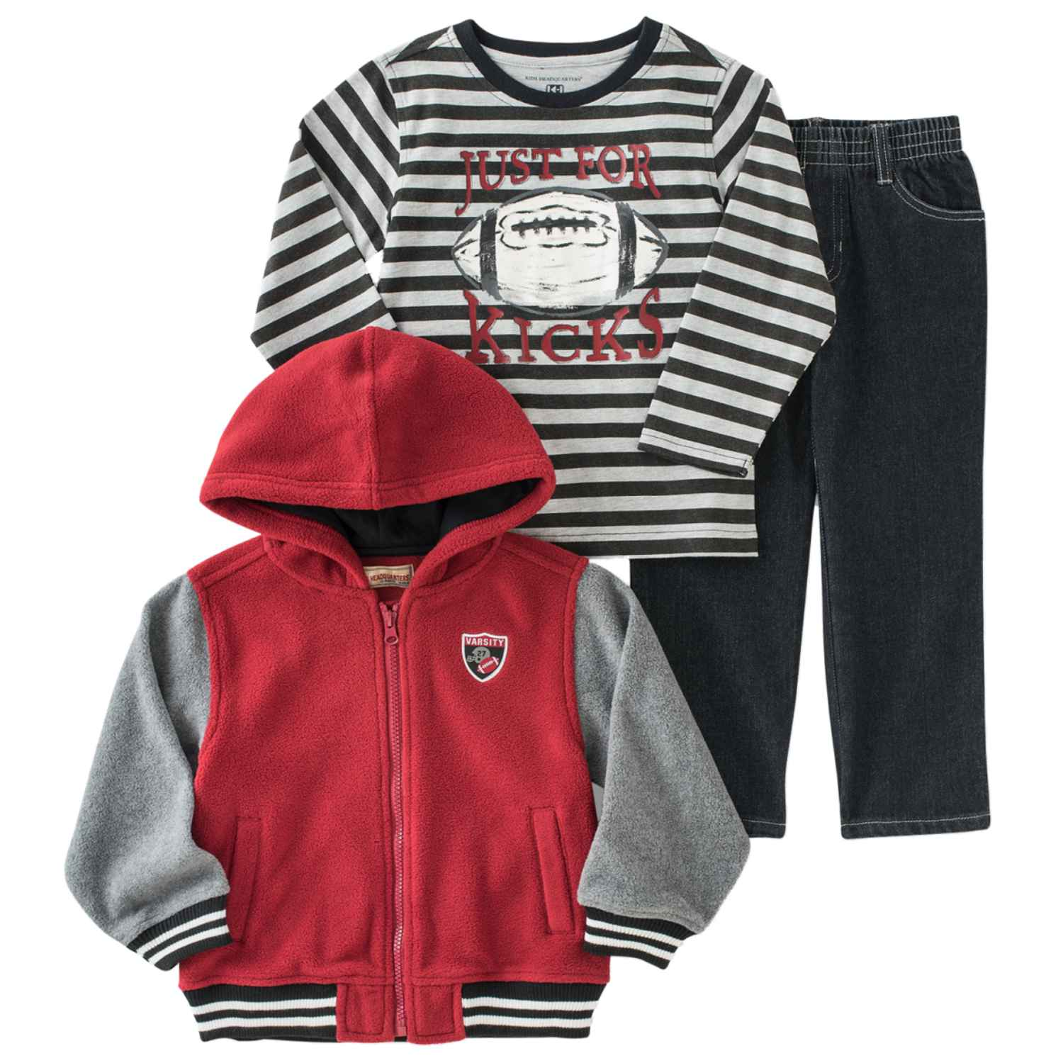 Kids Headquarters Infant Boys 3-Piece Football Outfit Jacket Shirt & Pants