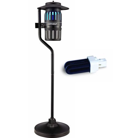 Dynatrap DT1260 1/2 Acre Outdoor Insect Trap with Pole with replacement bulb