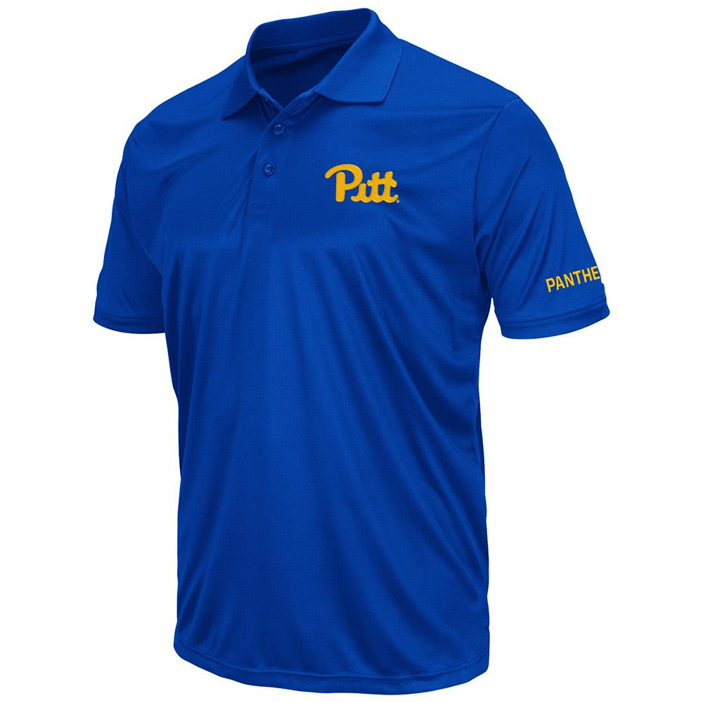 Mens Pittsburgh Panthers Short Sleeve Polo Shirt - S