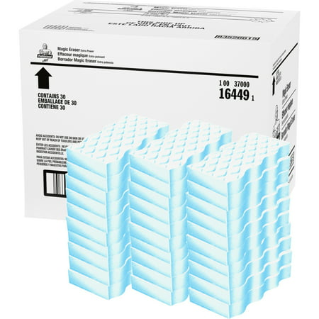 Mr. Clean, PGC16449, Extra Durable Magic Eraser Cleaning Pads, 30 / Carton, Blue,White