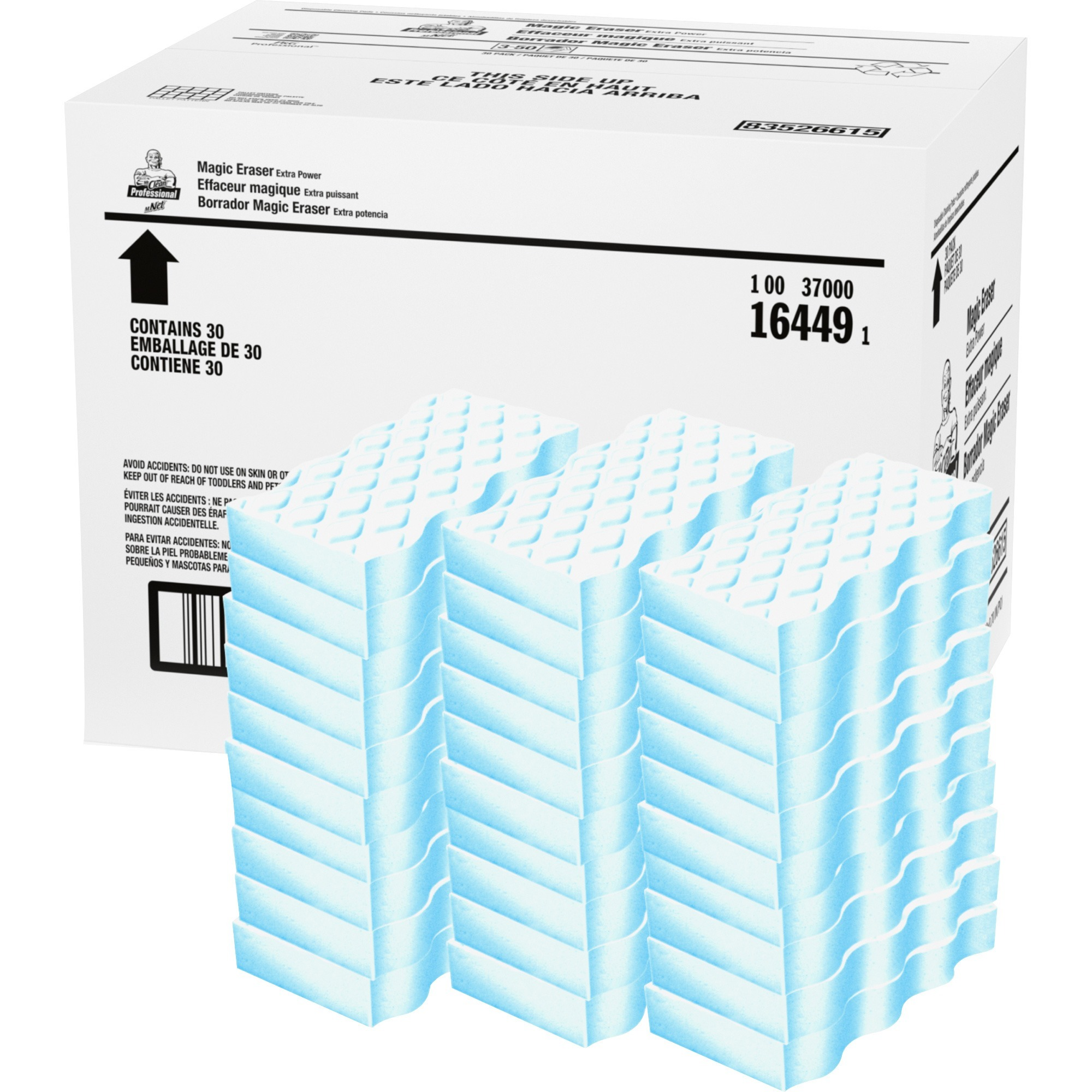 Mr. Clean Extra Durable Pads, Blue, White, 30 / Carton (Quantity)