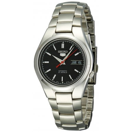Seiko Men's 5 Automatic SNK607K Black Stainless-Steel Automatic Fashion Watch