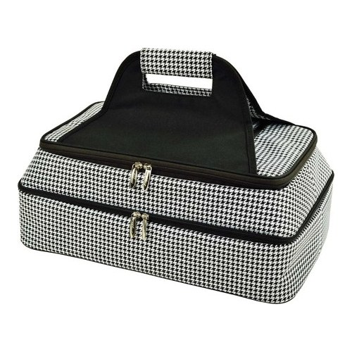 """Picnic at Ascot Two Layer Thermal Food Carrier  6.5"""" x 18"""" x 11"""""""
