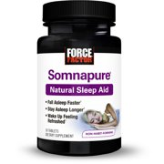 Force Factor Somnapure Relaxing Natural Sleep Aid for Adults with Melatonin, Valerian, Chamomile, Lemon Balm, 30 Ct.