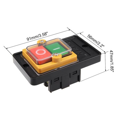 Start Stop Push Button Switch O/I 10A KAO-5M for Electric Tool - image 3 of 4