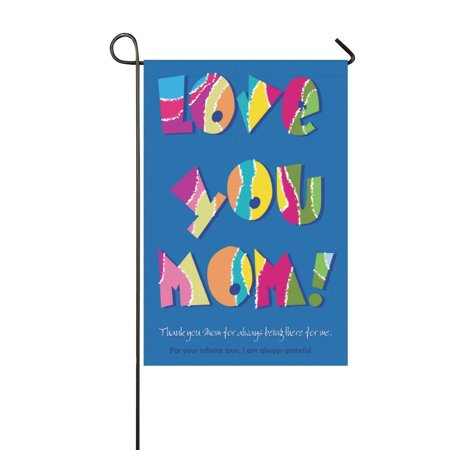 MYPOP Mother's Day Long Garden Flag Banner 12 x 18 - Mother's Day Banner