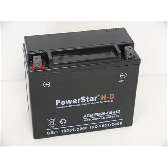 PowerStar PM20-BS-HD-15 Ytx20H-Bs Atv Battery For Arctic Cat 700Cc 700H1 - 3 Year Warranty