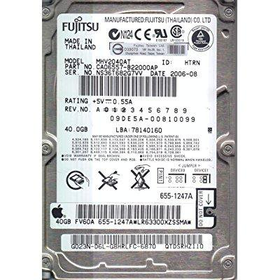 Fujitsu MHV2040AT 40GB UDMA/100 4200RPM 2MB 2.5-Inch Notebook Hard Drive 100 2mb Notebook Hard Drive