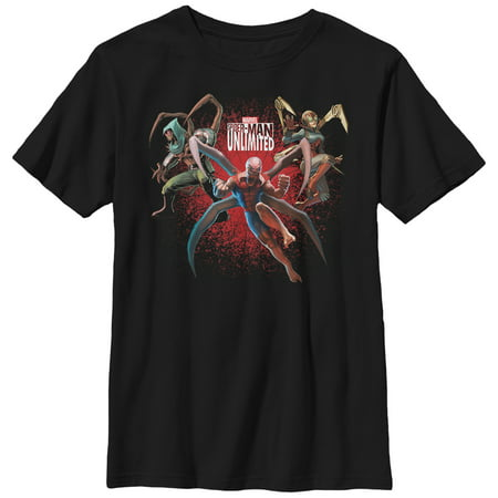 Marvel Boys' Spider-Man Unlimited Characters T-Shirt ()