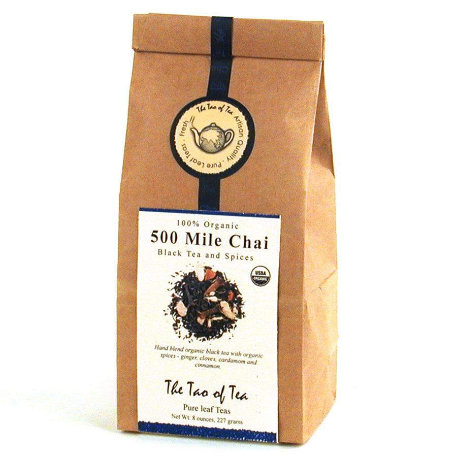 The Tao of Tea Organic 500 Mile Chai Tea - Loose Leaf Tea, 8 Oz Tin Tie Bag