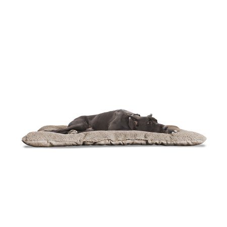 FurHaven Pet Kennel Pad | Reversible Terry and Suede Pet Tufted Pillow Dog Bed for Crates & Kennels, Clay,