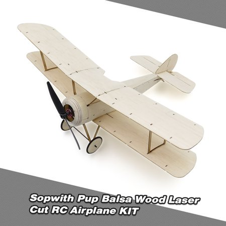 Sopwith Pup Balsa Wood 378mm Wingspan Biplane Warbird Aircraft Model Light Wood Airplane Kit