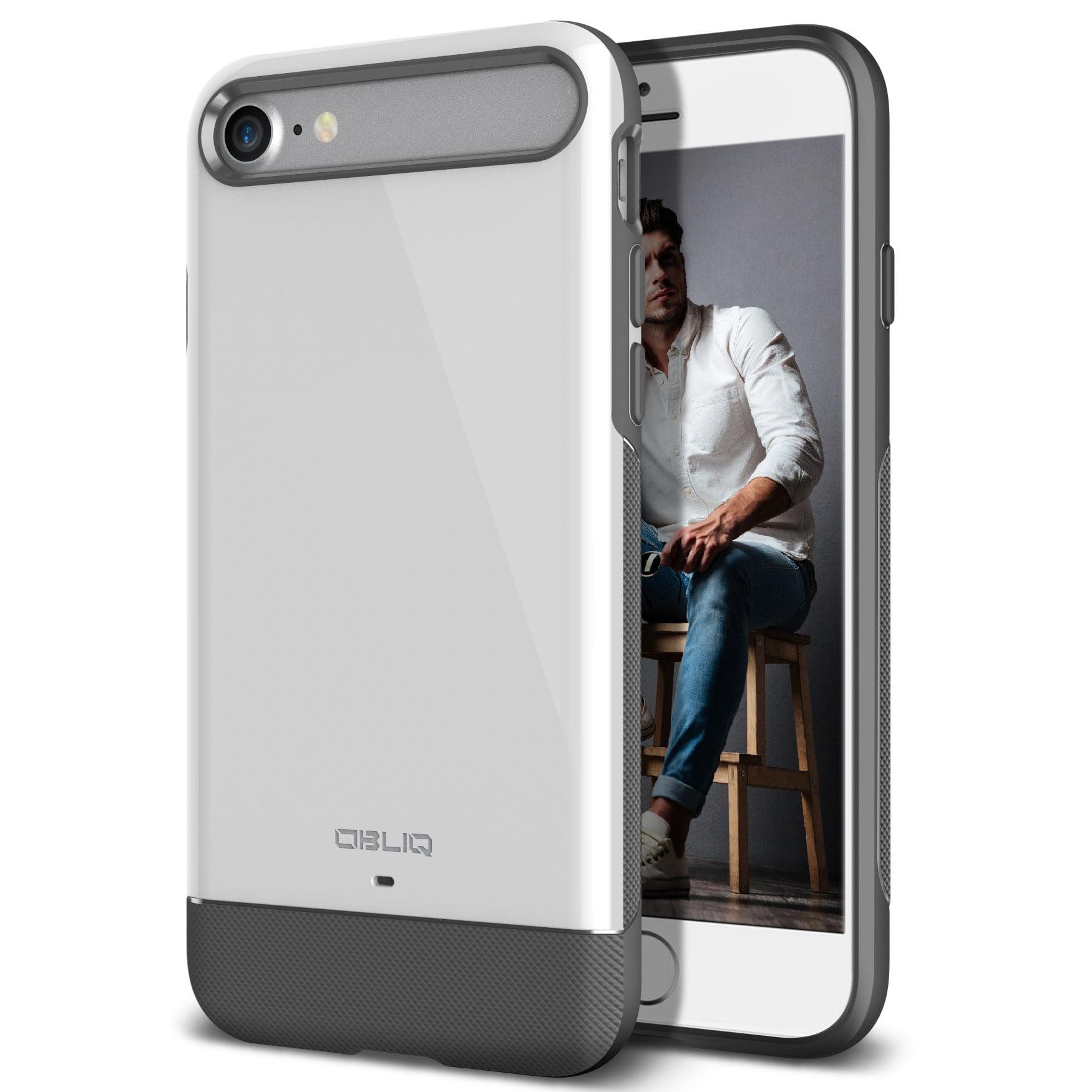 iPhone 7 Case, OBLIQ [Dual Meta][Jet Black] - Protective Slim Dual Composite Vibrant Luxury & Enhanced Grip Form Fitting Style Case for Apple iPhone 7 (2016)
