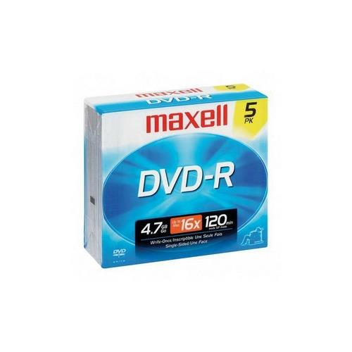 Hitachi DZ-BD7HA Camcorder DV Tape DVD-R 16x 4.7 GB 120 Minute Recordable Disc - (5 Pack)