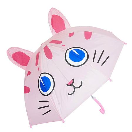 3D Pop-Up Blue Eye Cat Pink Cute Umbrella