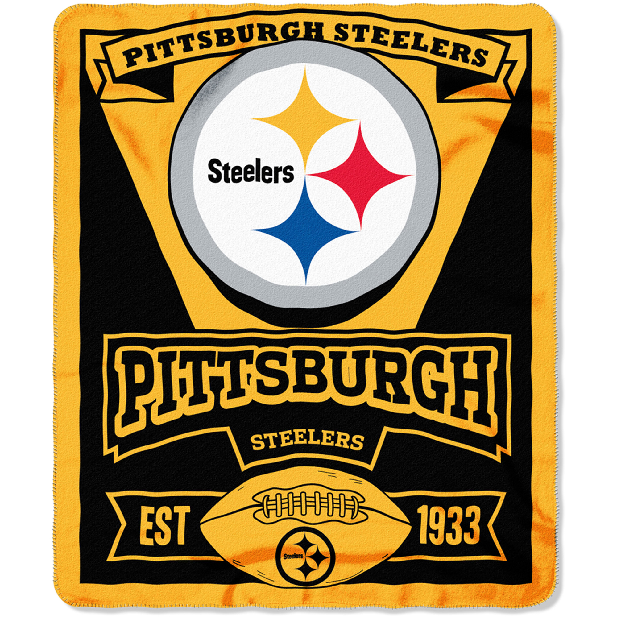 "NFL Pittsburgh Steelers 50"" x 60"" Fleece Throw"