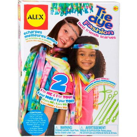 ALEX Toys Do-it-Yourself Wear Tie Dye Fashion Best Friends Scarves