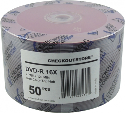 50 CheckOutStore 16X DVD-R 4.7GB Red Top