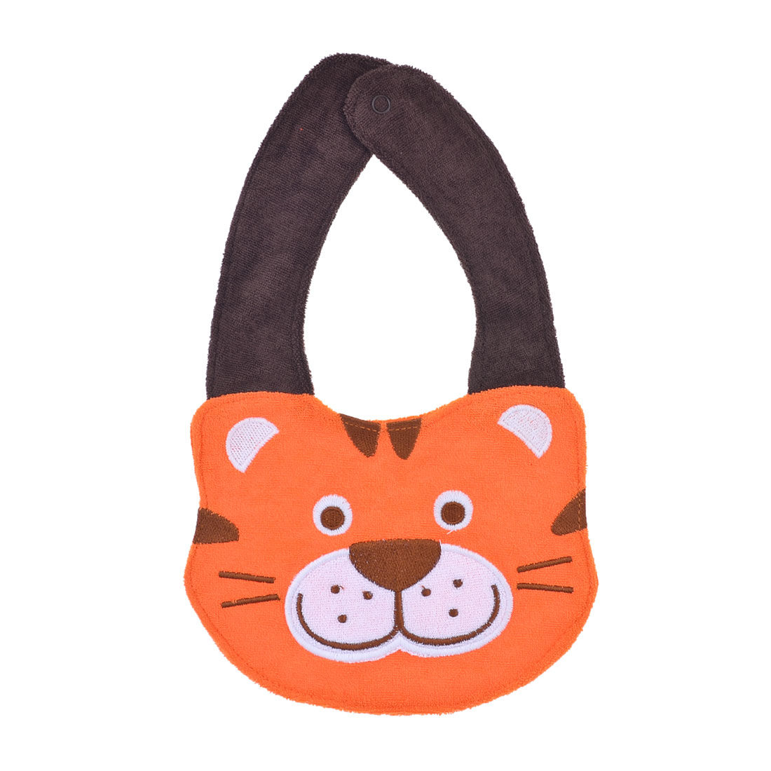 Infant Toddler Brown Orange Tiger Design Terry Lunch Bib Tower