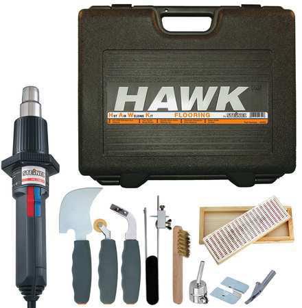 STEINEL Heat Gun Kits,80 1250F,0 to 15.4 cfm HAWK Flooring Kit by Steinel