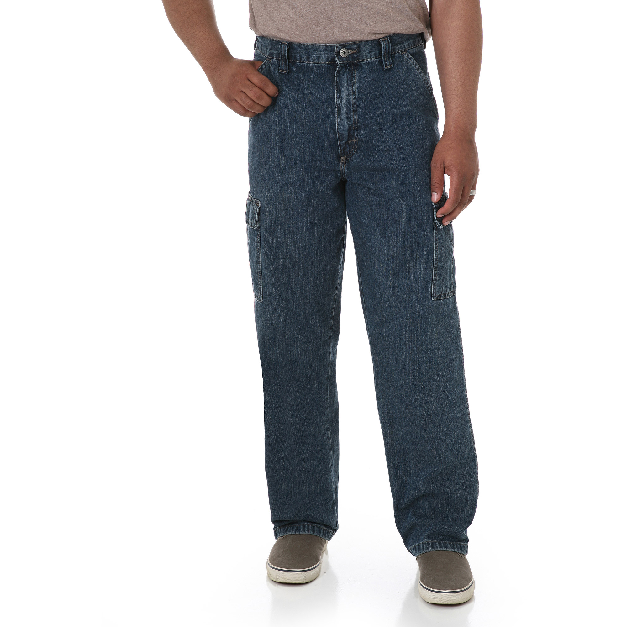 Wrangler - Men's Cargo Jeans - Walmart.com