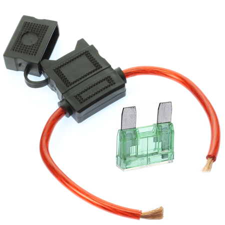 8 Gauge MAXI Inline Fuse Holder Fuseholder with cover and 50 Amp Fuse