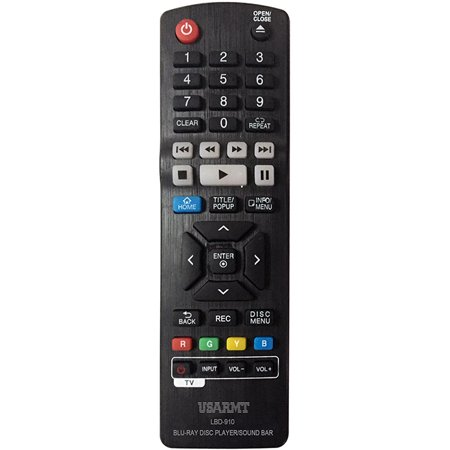 New LBD-910 Replaced Remote for LG Blu Ray Disc Players (Lg Blu Ray Disc Player Remote Codes)