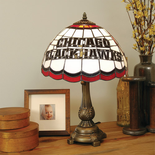 NHL Stained Glass Tiffany Table Lamp - Chicago Blackhawks