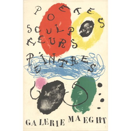 Miro Signed Lithograph - Joan Miro-Poets, Sculptors, Painters-1960 Lithograph
