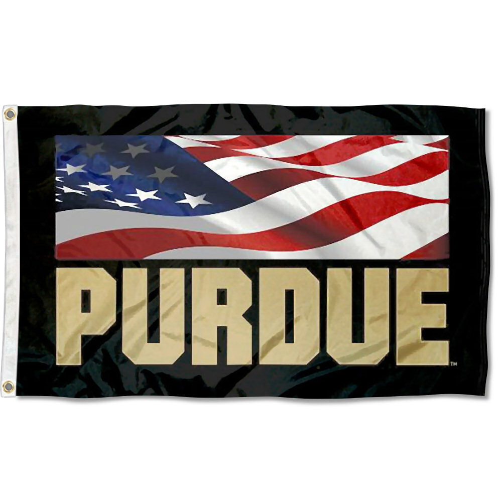 Purdue Boilermakers USA Flag Patriotic 3' x 5' Pole Flag