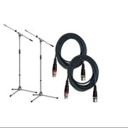 K&M Pro Mic Stand with Cable, 2 Pack