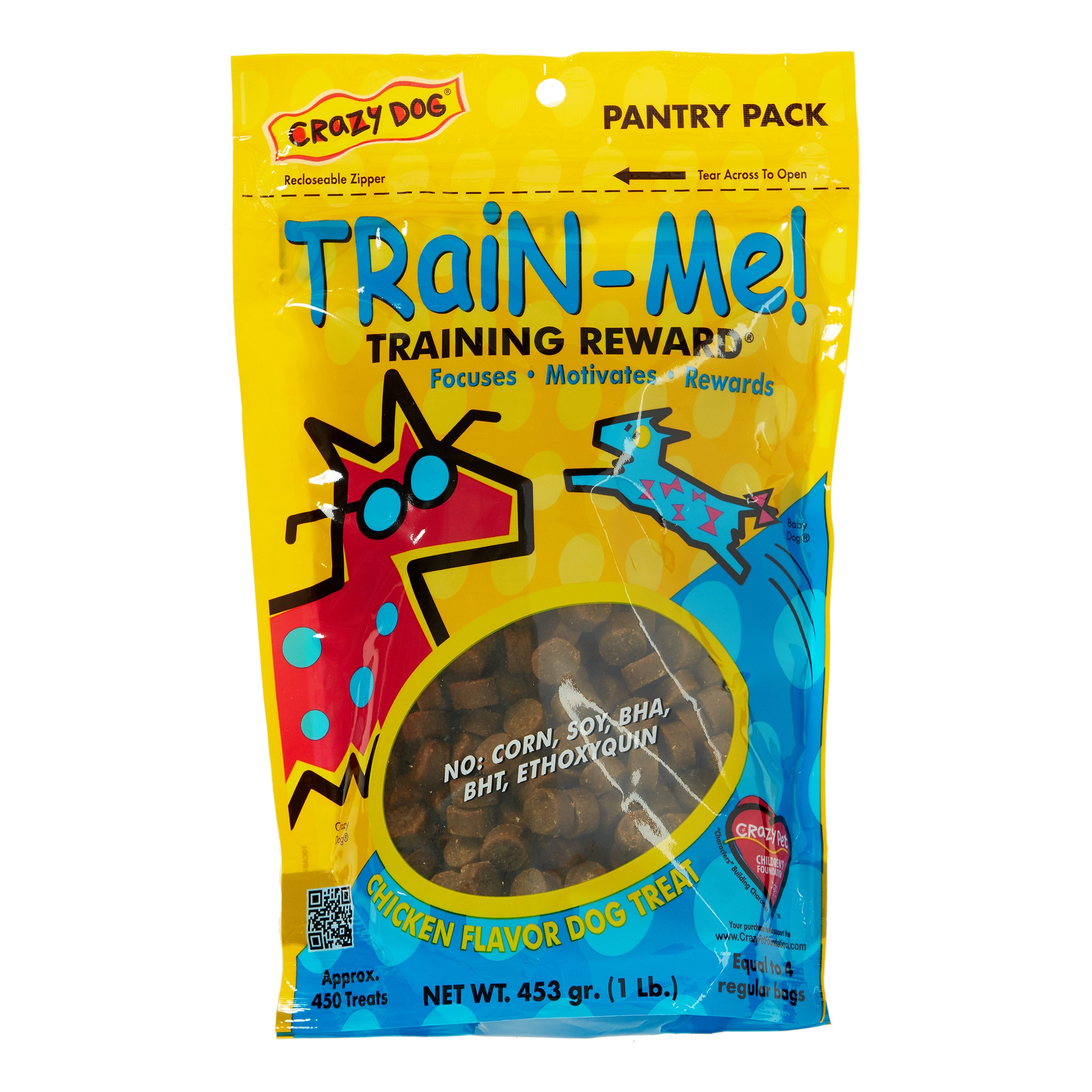 Crazy Dog Train Me Treat - Chicken, 1 Pound