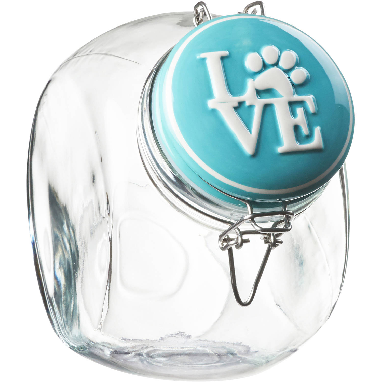 Pet Love Hermetic Preserving Jar, 72 oz, Turquoise