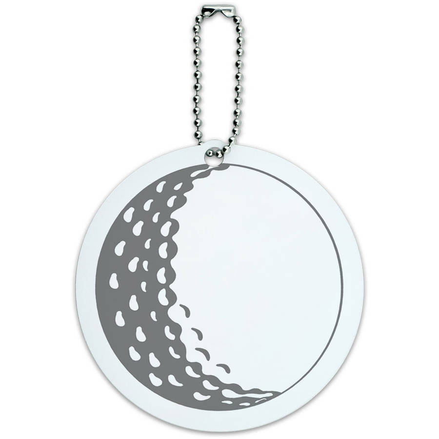 Golf Ball Golfing Golfer Round Luggage ID Tag Card for Suitcase or Carry-On