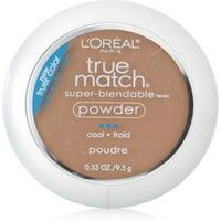 L'Oreal Paris True Match Super-Blendable Oil Free Makeup Powder, Nude Beige, 0.33 oz.