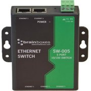 Brainboxes SW-005 5 Port Unmanaged Mountable Ethernet Switch