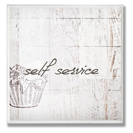 Self Service Laundry Bathroom Wall Plaque