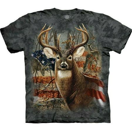 The Mountain Patriotic Buck T-Shirt, Storm Blue (2XL) - image 1 de 1