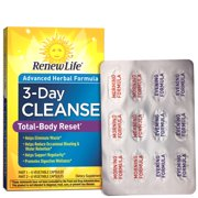 Renew Life 3 Day Total Body Reset Cleanse, 12 Ct