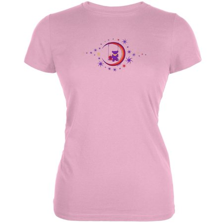 Grateful Dead   Moon Swing Light Pink Juniors T Shirt