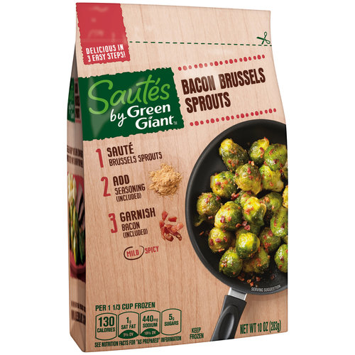 Green Giant Bacon Brussels Sprouts Sautes, 10 oz. Bag