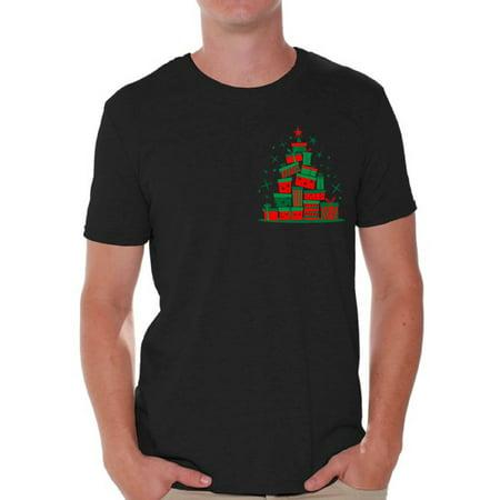 Family Christmas Shirts.Awkward Styles Awkward Styles Lit Christmas Tree Tshirt For Men Xmas Tree Shirt Ugly Christmas T Shirt Xmas Presents Tree Family Christmas Shirt