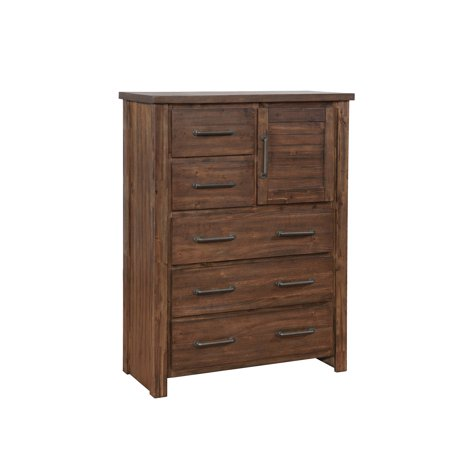 Furniture Bourbon (Coaster Company Sutter Creek Five-Drawer Chest With Door, Vintage Bourbon )