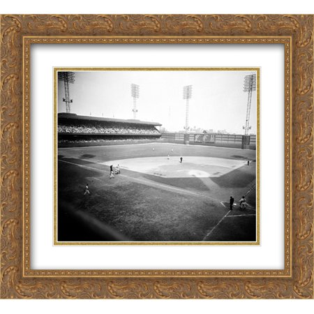 Shibe Park 2x Matted 24x20 Gold Ornate Framed Art Print from the Stadium Series