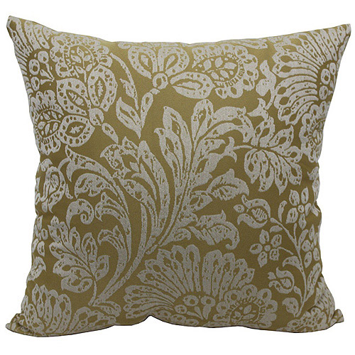 Better Homes and Gardens Jacobean Chenille Decorative Pillow, Yellow