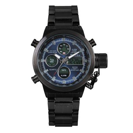 - Digital Mens Luminous Quartz Sport Wrist Watch Date Display Army Air Force