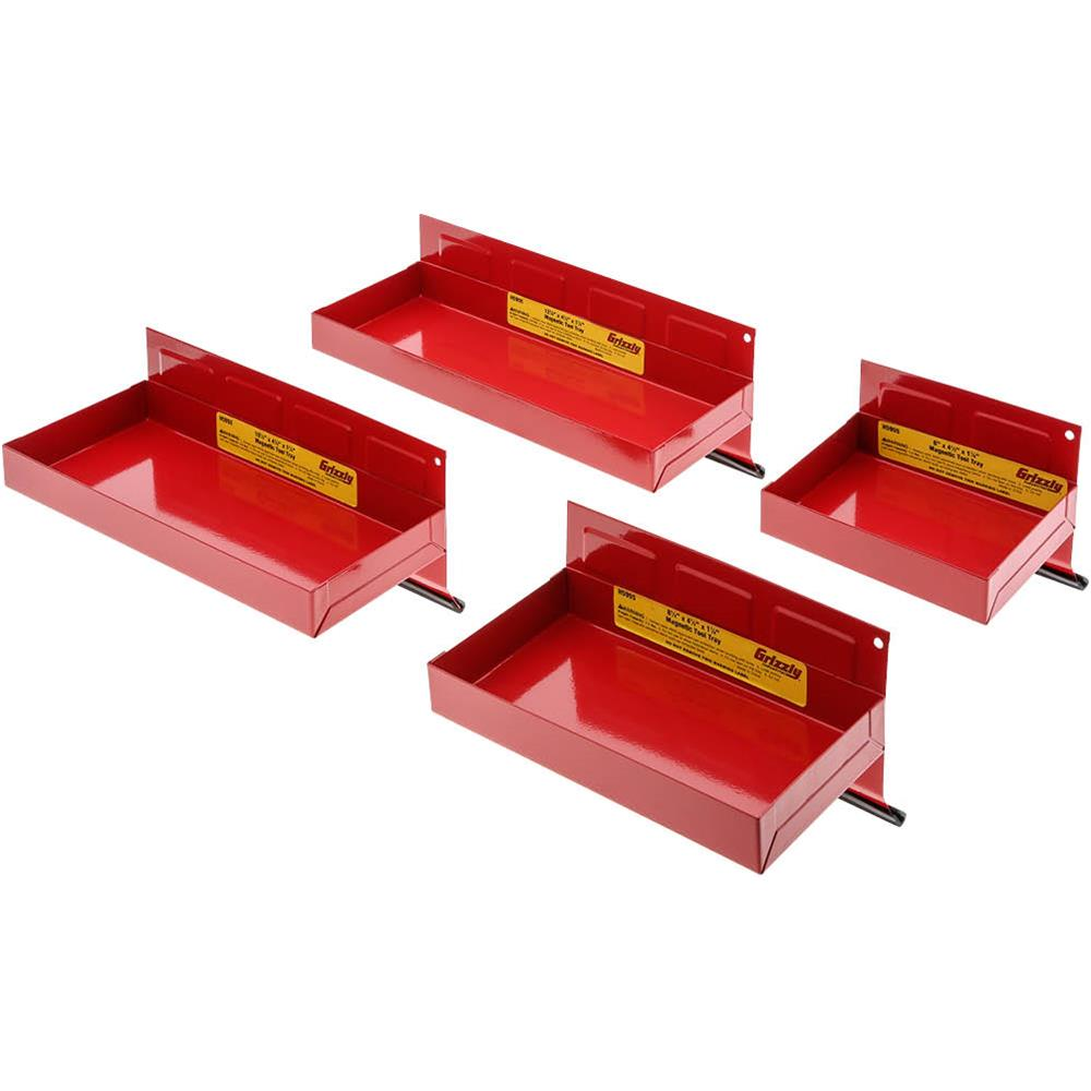 Grizzly H5955 Magnetic Tool Tray Set 4 pc.