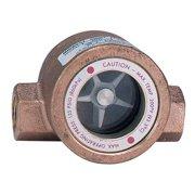 DWYER INSTRUMENTS SFI-100-1 Single Sight Flow Indicator,Bronze,1In