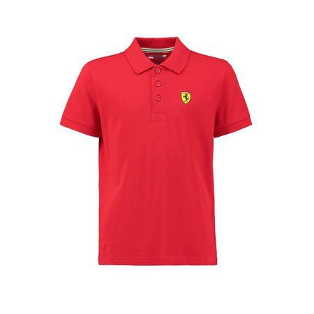 Ferrari Kids Red Shield Logo Polo Shirt (Logo Für Ferrari)