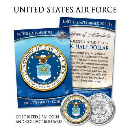 United States AIR FORCE * Emblem * JFK Half Dollar Coin -